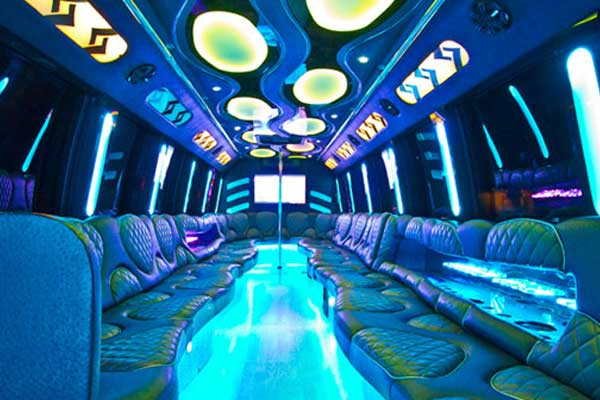 las vegas party bus interior
