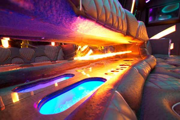 las vegas party bus interior